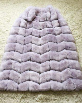 long fur vest - gray