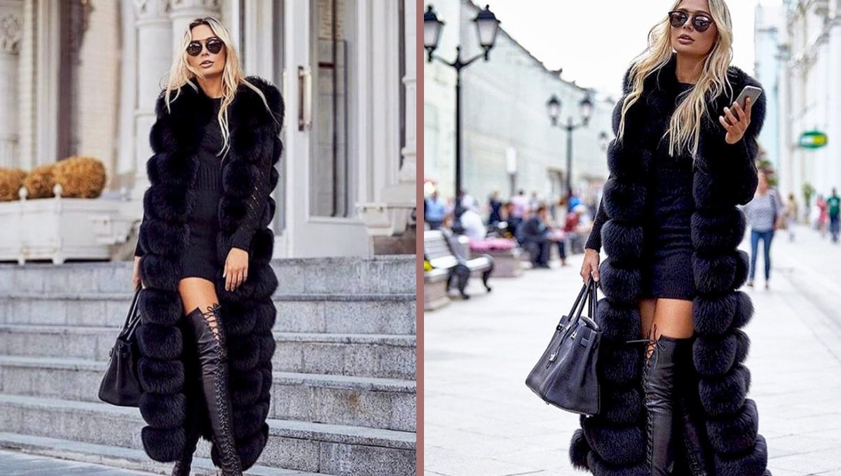 How to wear long faux fur vest
