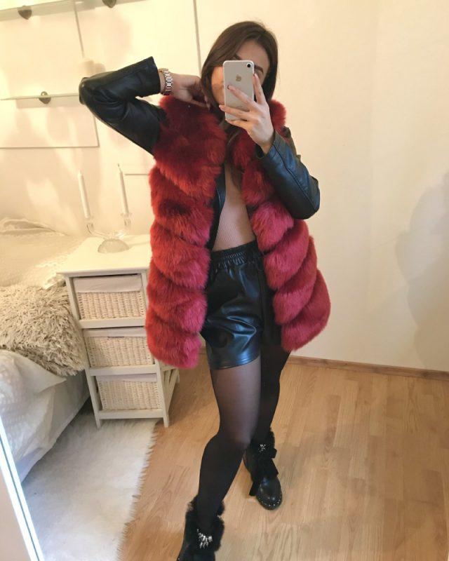 short faxu fur vest