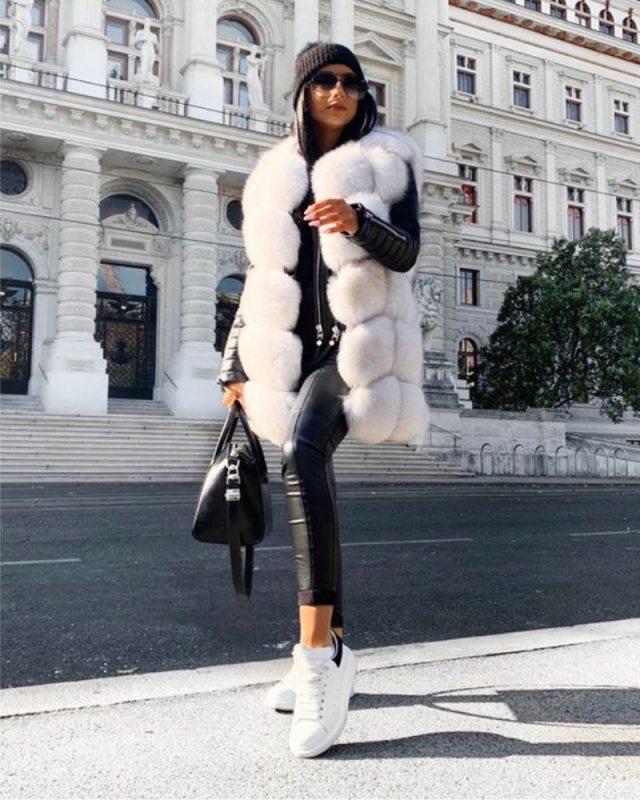 women fur vest